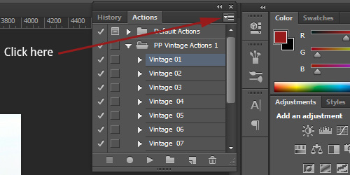 install Photoshop actions