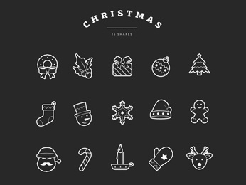 Christmas Shape Overlays