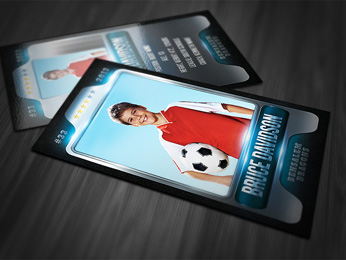 Metallic Sports Card Template