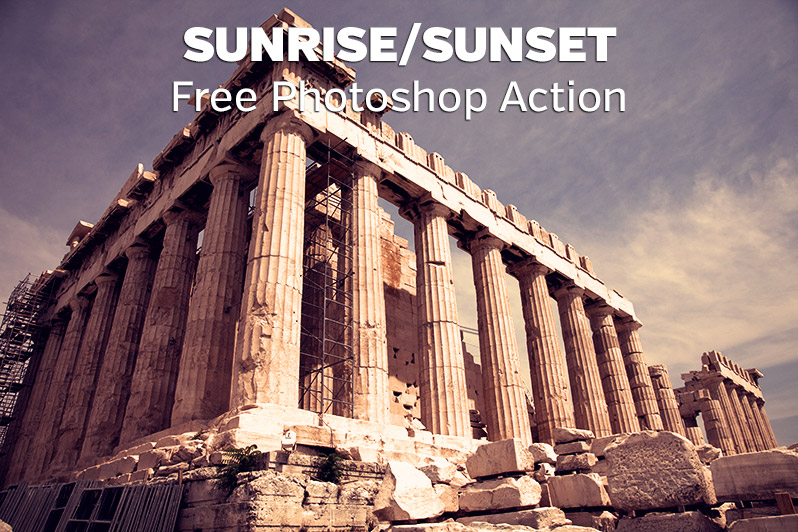 Free Sunrise/Sunset Photoshop Action