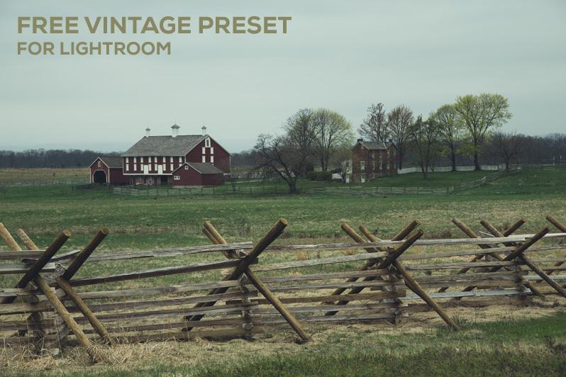 Free Vintage Preset for Lightroom