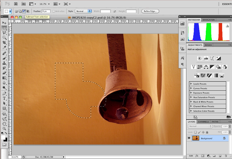 Introduction to the Marquee Select Tool in Photoshop