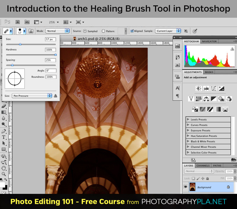 Introduction to the Healing Brush Tool in Photoshop