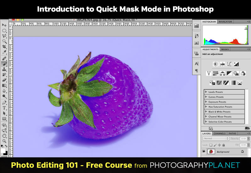 Introduction to Quick Mask Mode in Photoshop