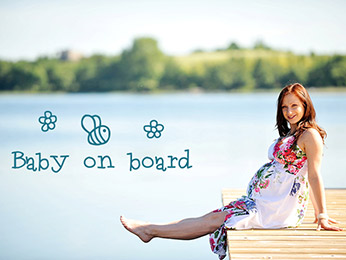 Creative Maternity Photo Overlays