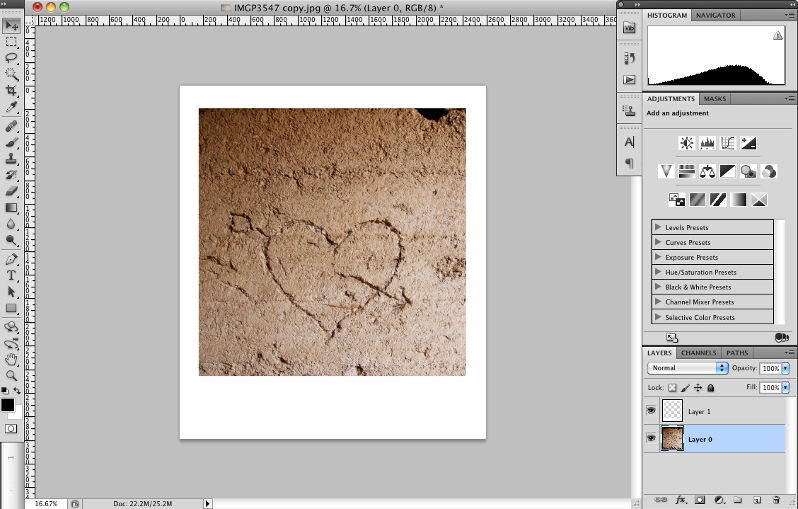 How to Add a Simple Border Frame to an Image in Photoshop