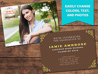 Achieve Graduation Announcement Card Template