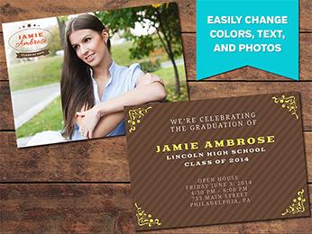 Achieve Graduation Announcement Card Template