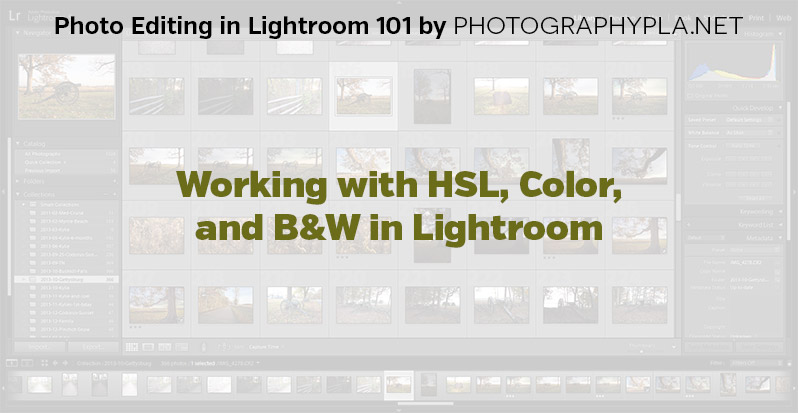 Working with HSL,Color, and B&W in Lightroom