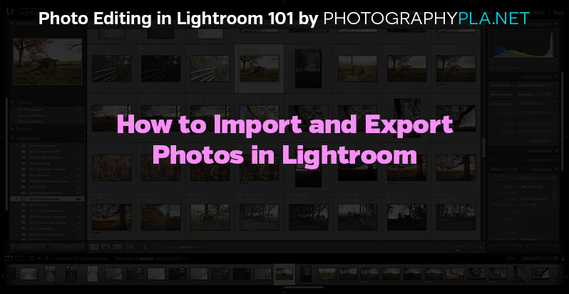 How to Import and Export Photos in Lightroom