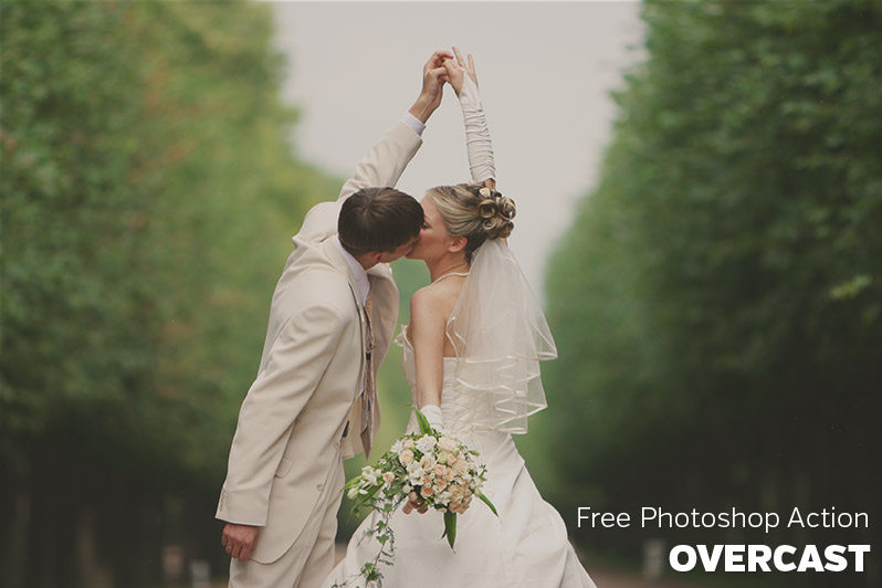 Free Photoshop Action: Overcast