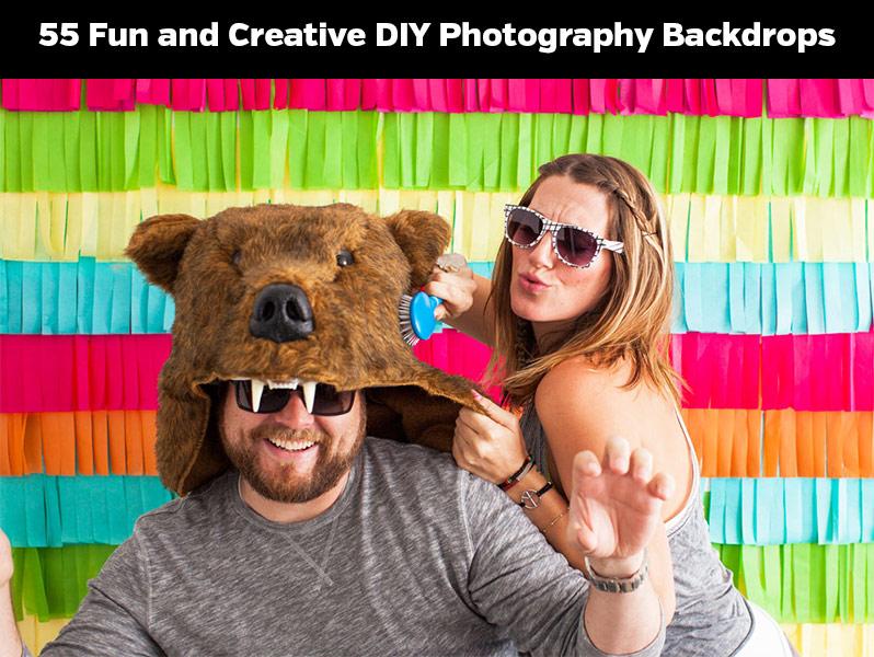 55 Fun and Creative DIY Photography Backdrops