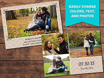 Blessed Save-the-Date Card Template