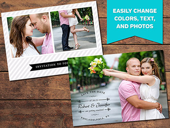Elegant Save-the-Date Card Template