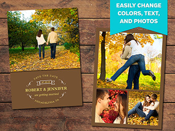 Fall Save-the-Date Card Template