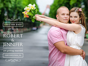 Elegant Save-the-Date Overlays