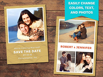Wavy Save the Date Card Template