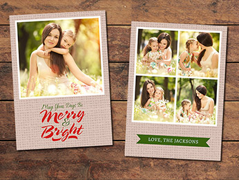 Canvas Christmas Card Template