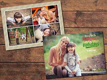 Collage Christmas Card Template