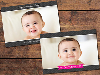 Dark Valentine's Day Card Template