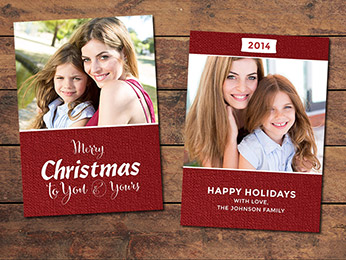 Festive Christmas Card Template