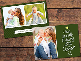 Green Christmas Card Template