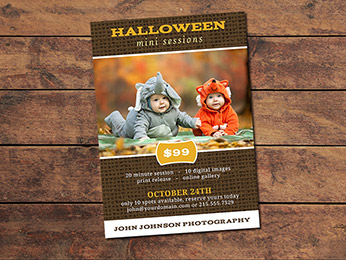 Halloween Mini Session Card Template