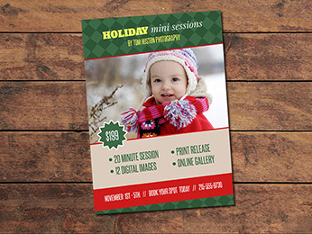 Holiday Mini Session Card Template
