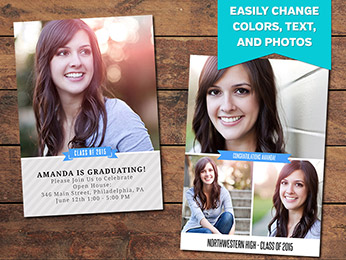 Honor Graduation Announcement Card Template
