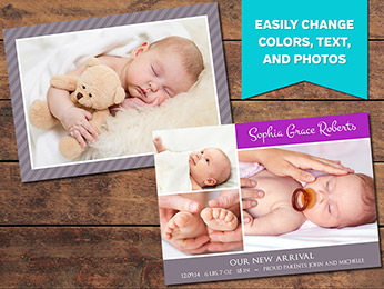 Loved Birth Announcement Card Template