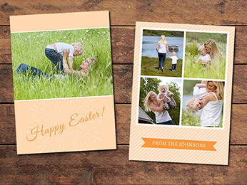 Orange Easter Card Template