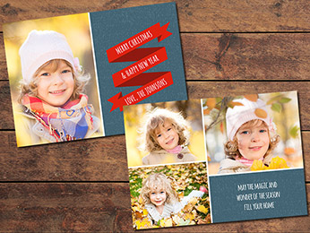 Ribbon Christmas Card Template