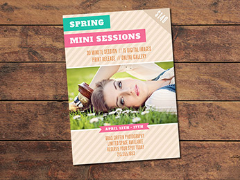 Spring Mini Session Card Template
