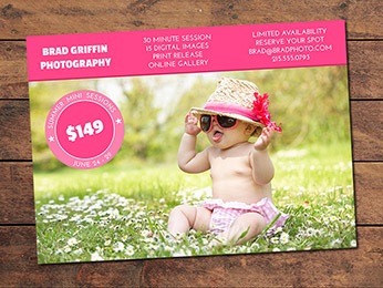 Summer Mini Session Card Template