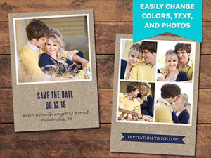 Textured Save the Date Template