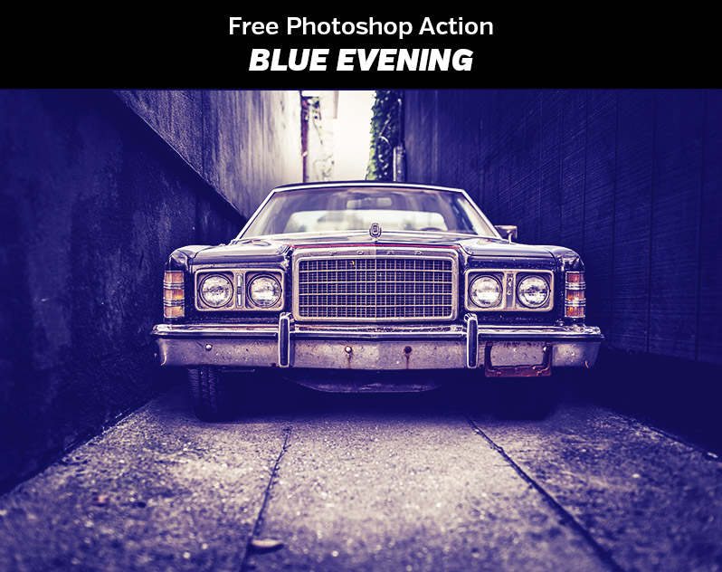 Free Blue Evening Photoshop Action