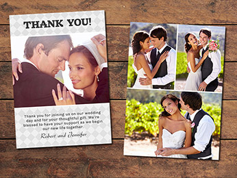 Diamond Wedding Thank You Card Template