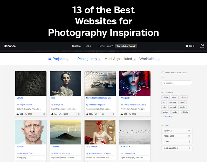 13 of the Best Websites for Photography Inspiration