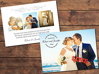Gratitude Wedding Thank You Card Template