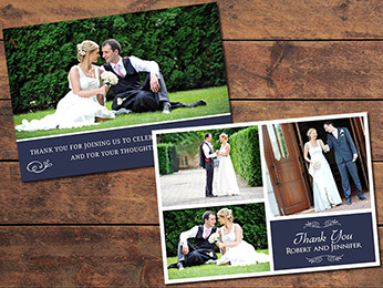 Simple Wedding Thank You Card Template