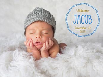 Birth Announcement Photo Overlays